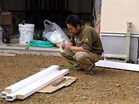 施工方法 ブロック上に直接施工する
